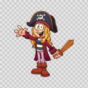 Pirate Little Girl 13998