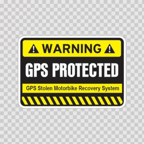 Gps Protected Prevention Sign 14054