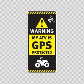 Gps Protected Prevention Sign Atv 14056