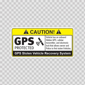 Gps Protected Prevention Sign Vehicle 14062
