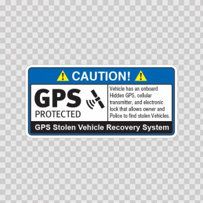 Gps Protected Prevention Sign Vehicle 14066
