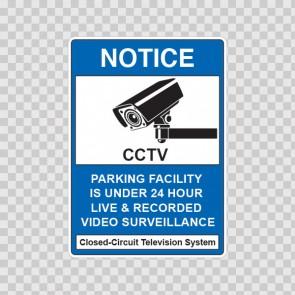 Notice Parking Camera Sign 14136