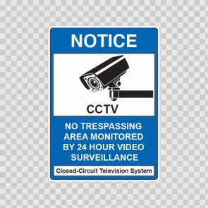 Cctv No Trespassing Camera Sign 14138