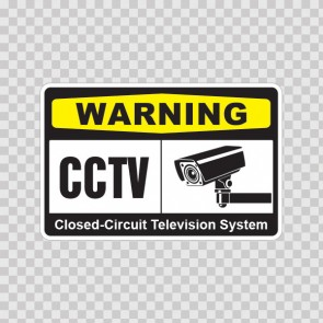 Warning Cctv Video Surveillance Closed-Circuit Television System 14142