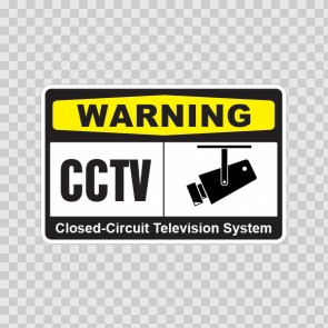 Warning Cctv Video Surveillance 14147