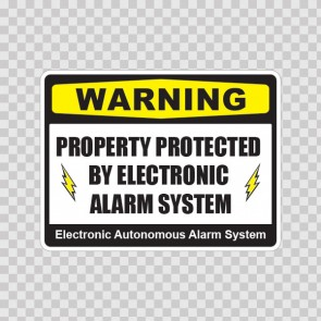 Warning Property Protected By Electronic Alarm System 14158