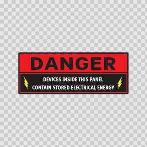 Danger Devices Inside This Panel Contain Stored Electrical Energy  14321