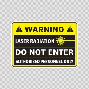 Caution Laser Radiation Do Not Enter Authorized Personnel Only 14329