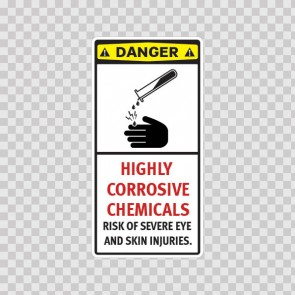 Highly Corrosive Chemicals Risk Of Severe Eye And Skin Injuries. 14363