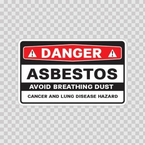 Danger Asbestos Avoid Breathing Dust Cancer And Lung Disease Hazard 14369