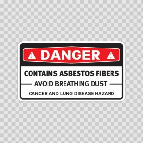 Danger Contains Asbestos Fibers Avoid Creating Dust Cancer And Lung Disease Hazard  14370