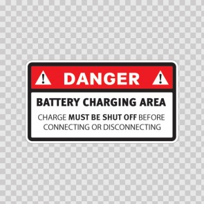 Danger. Battery Charging Area. Char Must Be Shut Off Before Connecting Or Disconnecting 14378