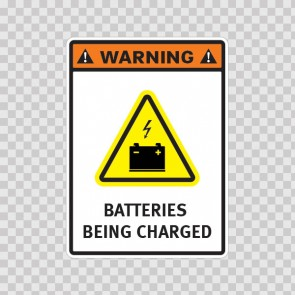 Warning. Batteries Being Charged. 14379