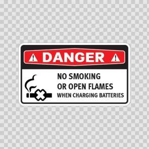 Danger No Smoking Or Open Flames When Charging Batteries 14381