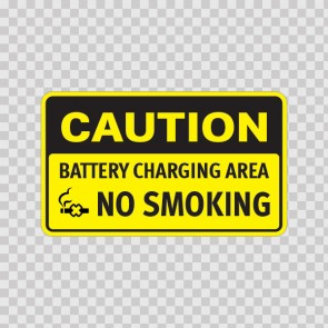 Caution No Smoking Battery Charging Area 14383