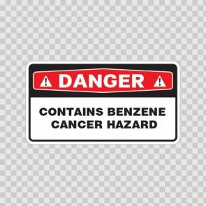Danger Contains Benzene Cancer Hazard 14395