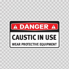 Danger Caustic In Use Wear Protective Equipment 14460