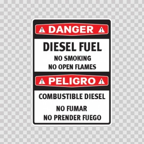 Danger Diesel Fuel No Smoking No Open Flames.. 14477
