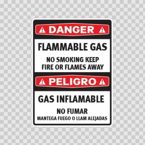 Danger Flammable Gas No Smoking Keep Fire.. / Peligro Gas Inflamable No Fumar  14478