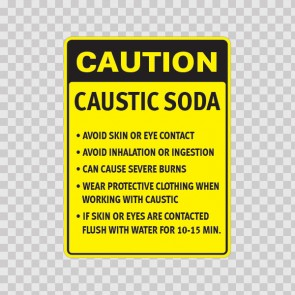 Caution Caustic Soda Avoid Skin Or Eye Contact, Avoid Inhalation.. 14491
