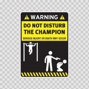 Funny Do Not Disturb The Champion 14595