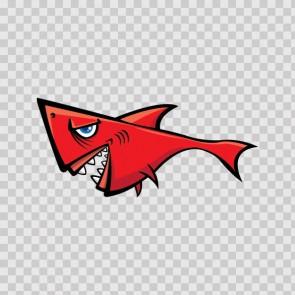 Red Shark Cartoon 14624