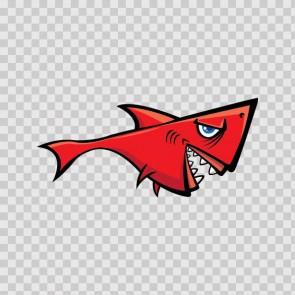 Red Shark Cartoon 14625