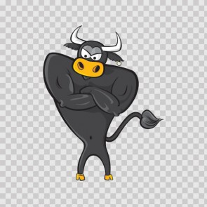 Cartoon Bull 14693