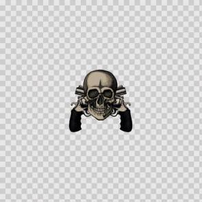 Skull Cross Gun 14726