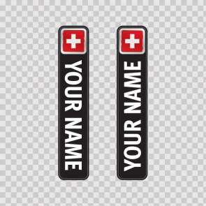 Bicycle Mountain Bike Name Label  Flag Switzerland 14780