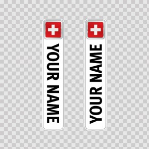 Bicycle Mountain Bike Name Label Flag Switzerland 14781