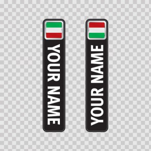 Bicycle Mountain Bike Name Label Flag Italy 14782