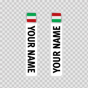 Bicycle Mountain Bike Name Label Flag Italy 14783