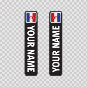 Bicycle Mountain Bike Name Label Flag Croatia 14786