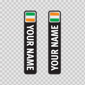 Bicycle Mountain Bike Name Label Flag Ireland 14794