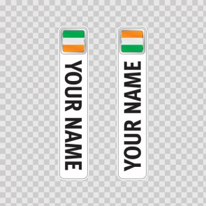 Bicycle Mountain Bike Name Label Flag Ireland 14795