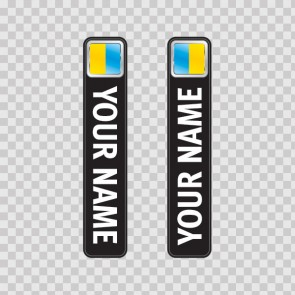 Bicycle Mountain Bike Name Label Flag Ukraine 14796