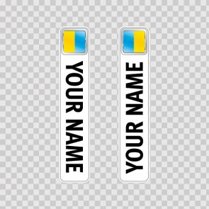 Bicycle Mountain Bike Name Label Flag Ukraine 14797