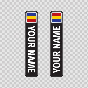 Bicycle Mountain Bike Name Label Flag Romania 14800
