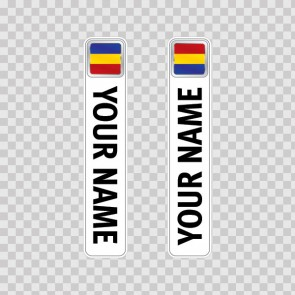 Bicycle Mountain Bike Name Label Flag Romania 14801