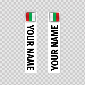 Bicycle Mountain Bike Name Label Flag Bulgaria 14803
