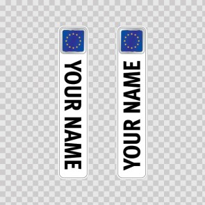 Bicycle Mountain Bike Name Label Flag European Union 14811