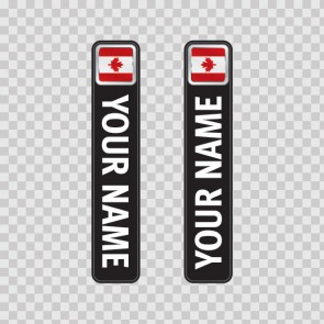 Bicycle Mountain Bike Name Label Flag Canada 14812