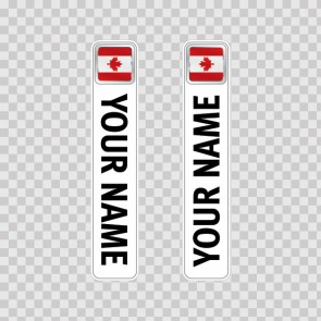 Bicycle Mountain Bike Name Label Flag Canada 14813