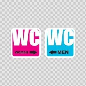 Wc Restroom Toilette Men Women Sign 14929