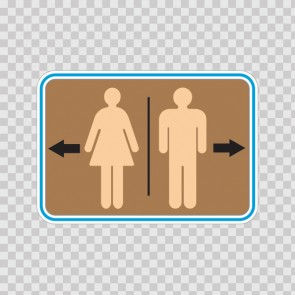 Wc Restroom Toilette Men Women Sign 14930