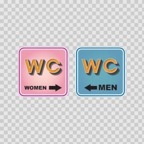 Wc Restroom Toilette Men Women Sign 14946