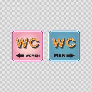 Wc Restroom Toilette Men Women Sign 14947