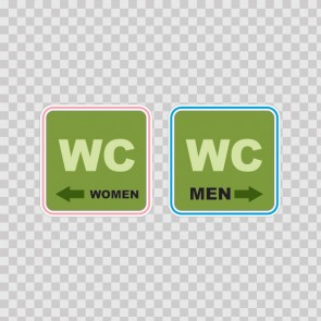 Wc Restroom Toilette Men Women Sign 14950