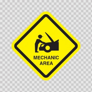Mechanic Area Sign 15554